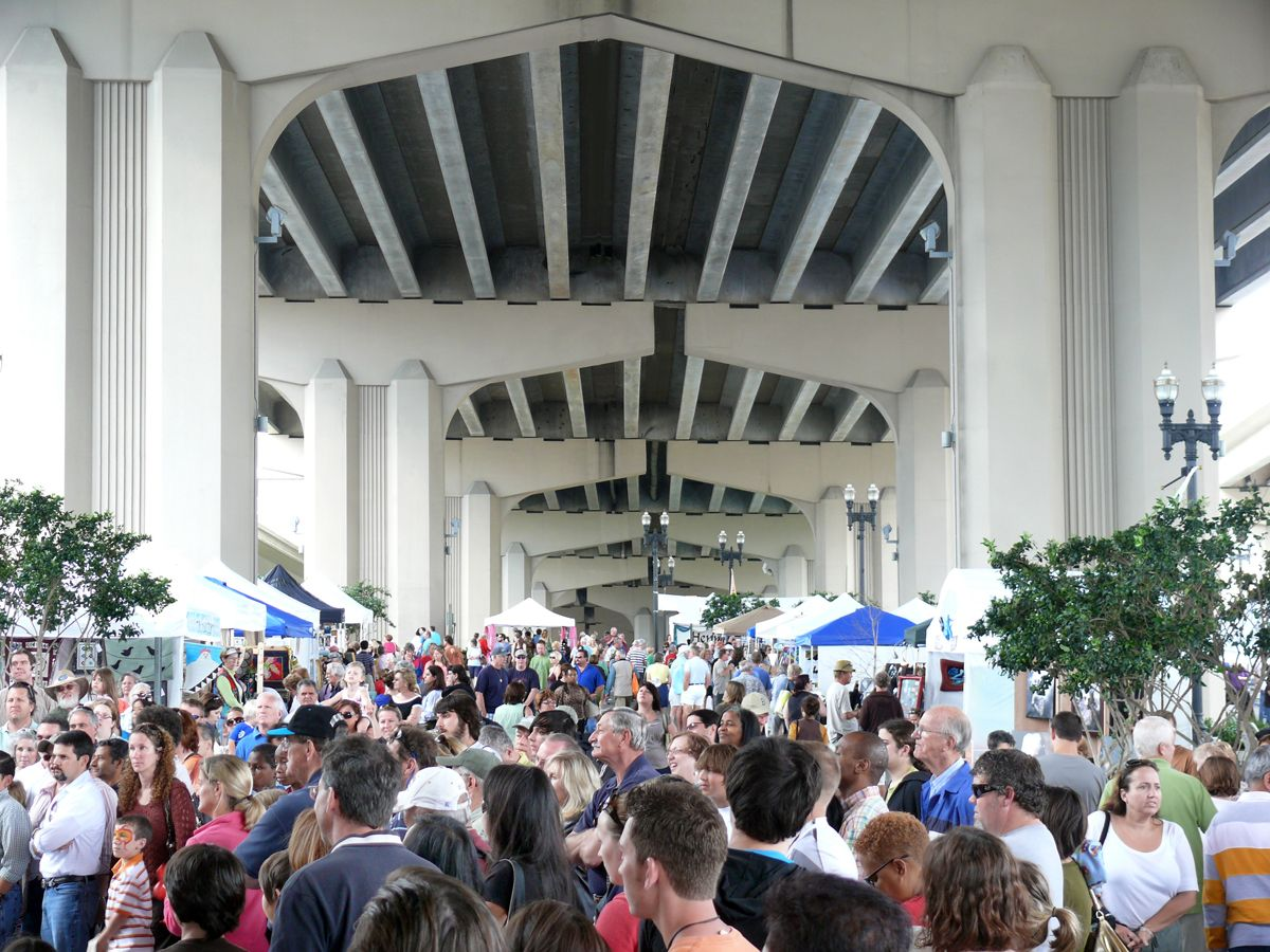 The Riverside Arts Market A Weekly Arts Crafts Market Under The Fuller Warren Bridge March To November Art Market Best Places To Live Riverside