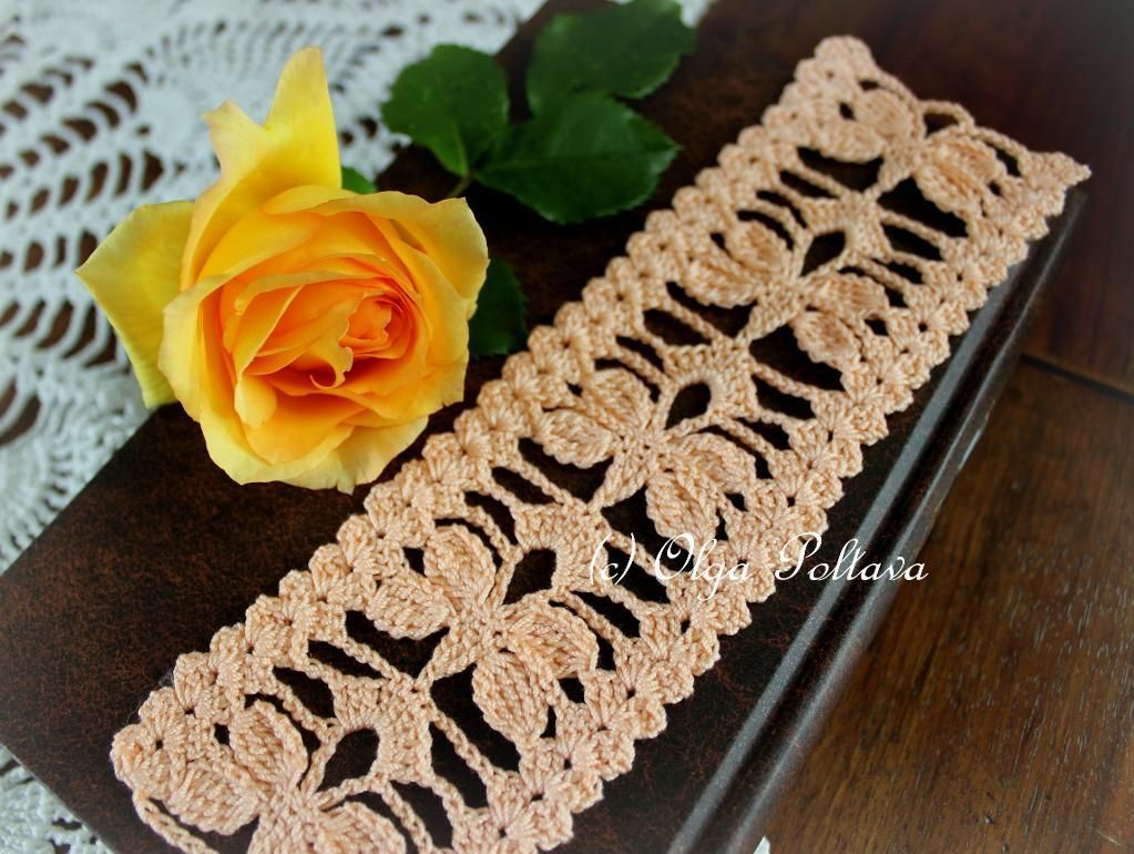 Butterflies Bookmark or Lace Edging Trim | Bookmarks, Butterfly and ...