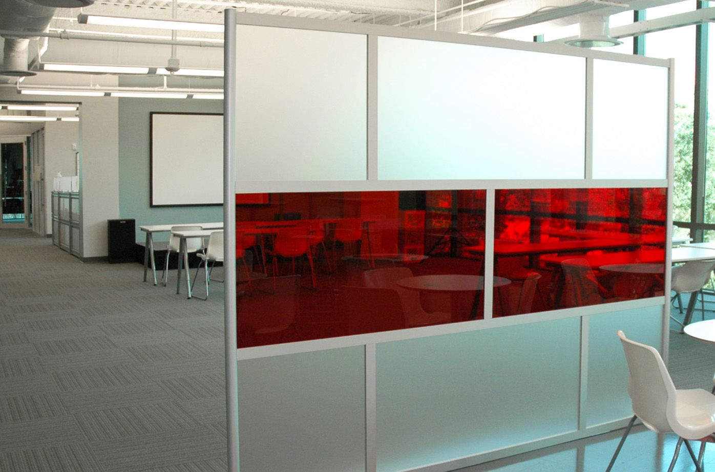 U screen with translucent u frosted acrylic panels u divider