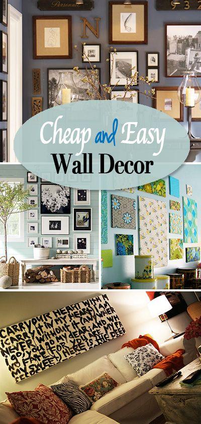 Cheap And Easy Diy Wall Decor Ideas The Budget Decorator Simple Wall Decor Living Room Decor On A Budget Home Decor