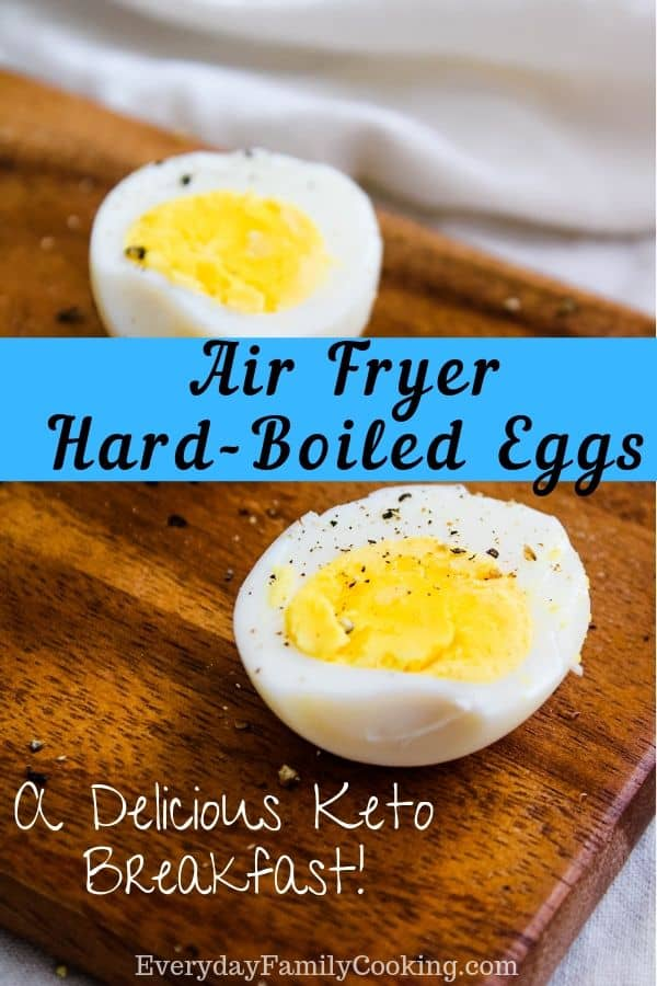 Air Fryer HardBoiled Eggs Keto with No Wire Rack Needed
