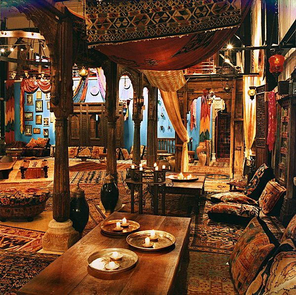 Material culture is filled with antique kilims tapestries - Shisha bar dekoration ...