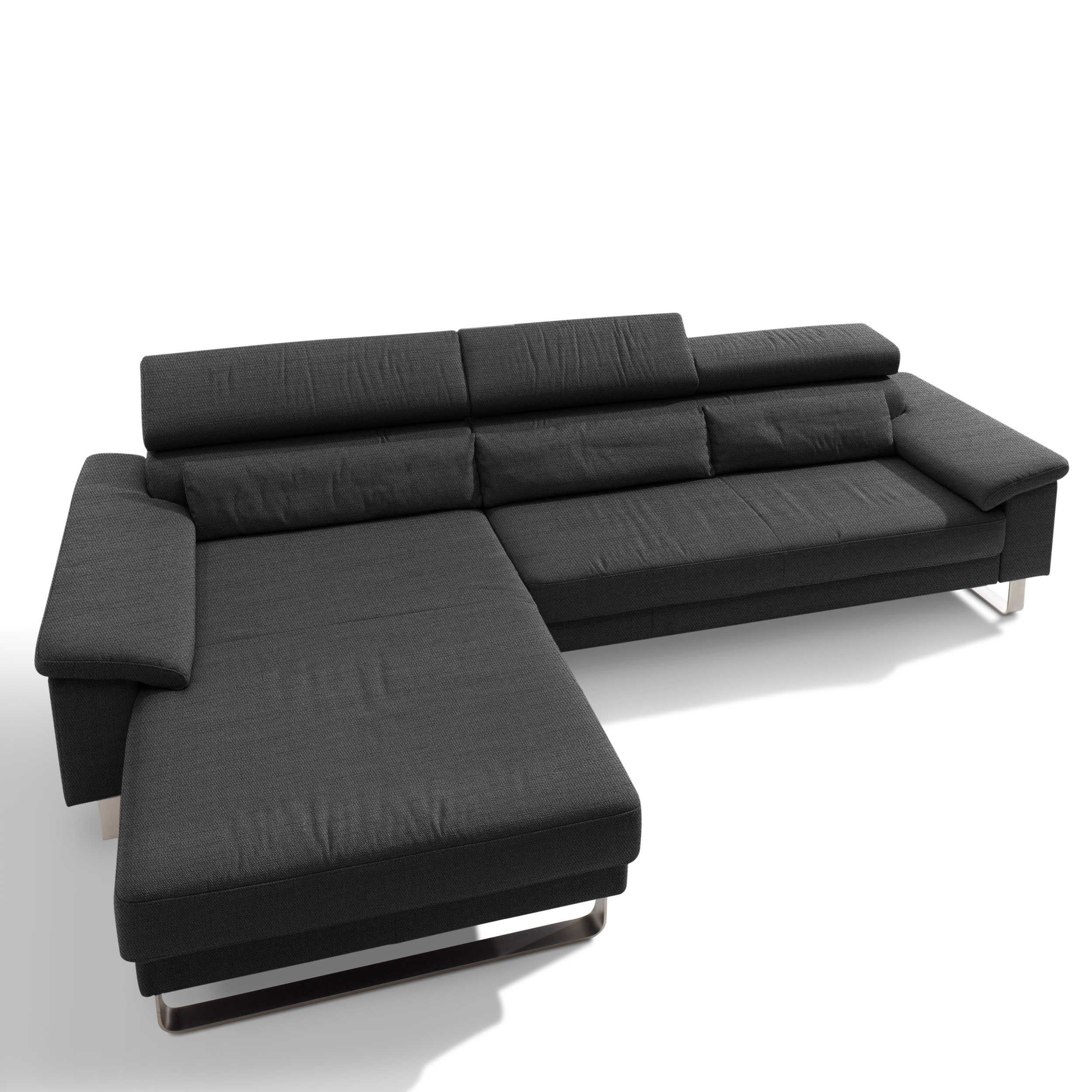 Segmuller Werkstatten Sofa Mercury Stoff Anthrazit Grau Stoff