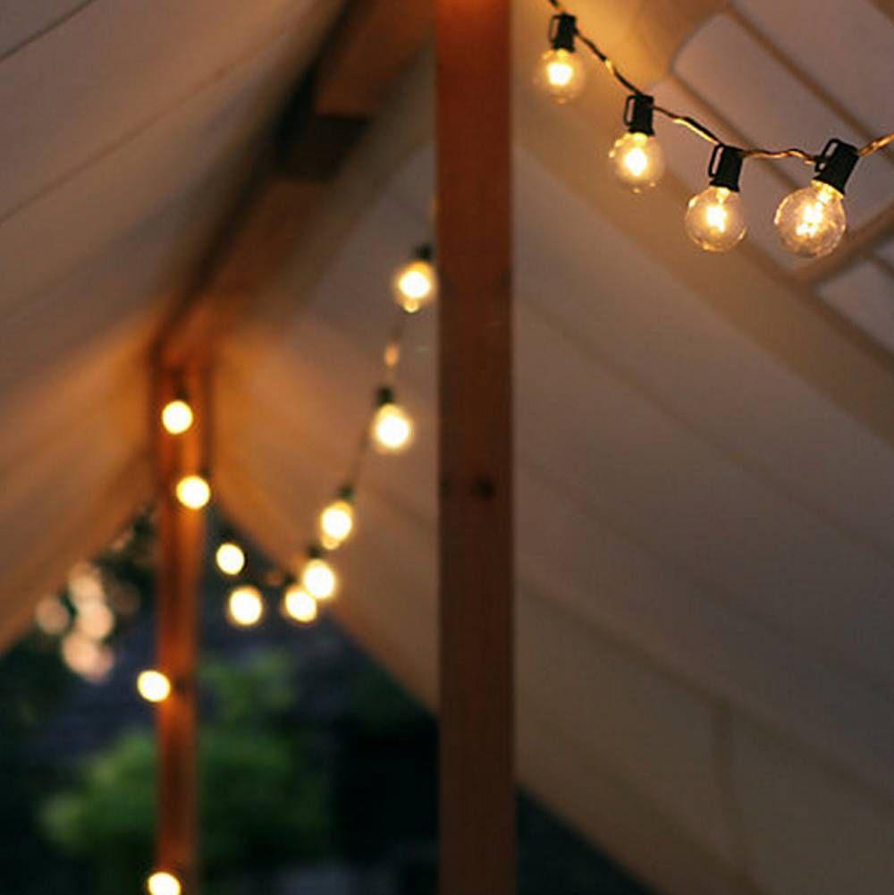 Las guirnaldas de luces para fiestas ferias y navidad for Luces exterior jardin