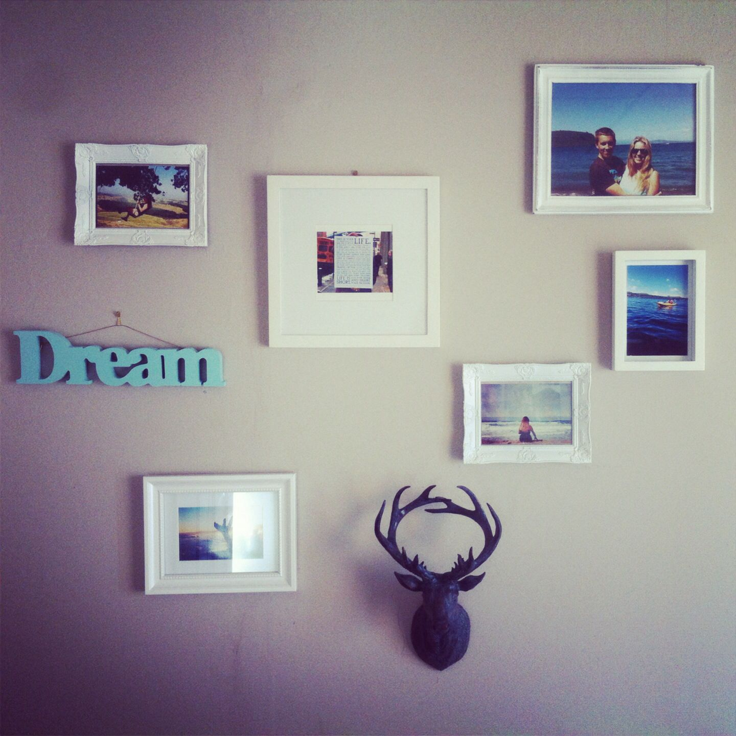 My Photo wall. Stag, dream, photos of travel.