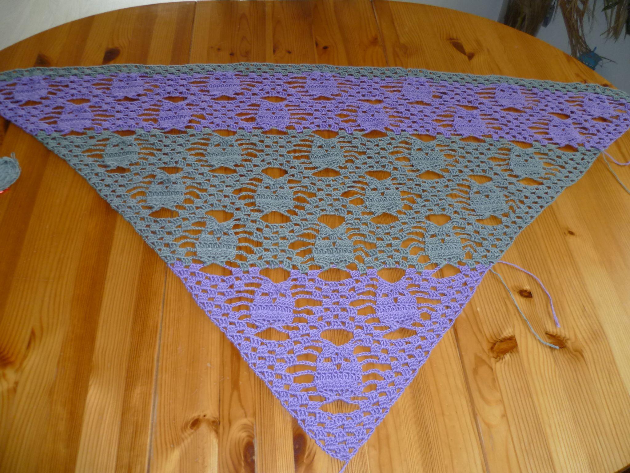 Eulen-Tuch | Tücher, Handwärmer, Mützen, Schals gehäkelt und ...