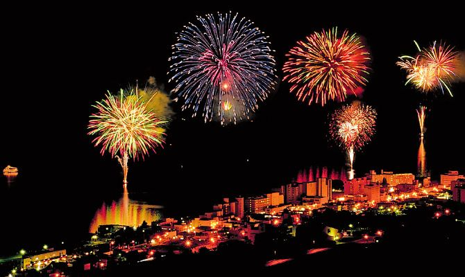 beautiful fireworks over water - Google Search