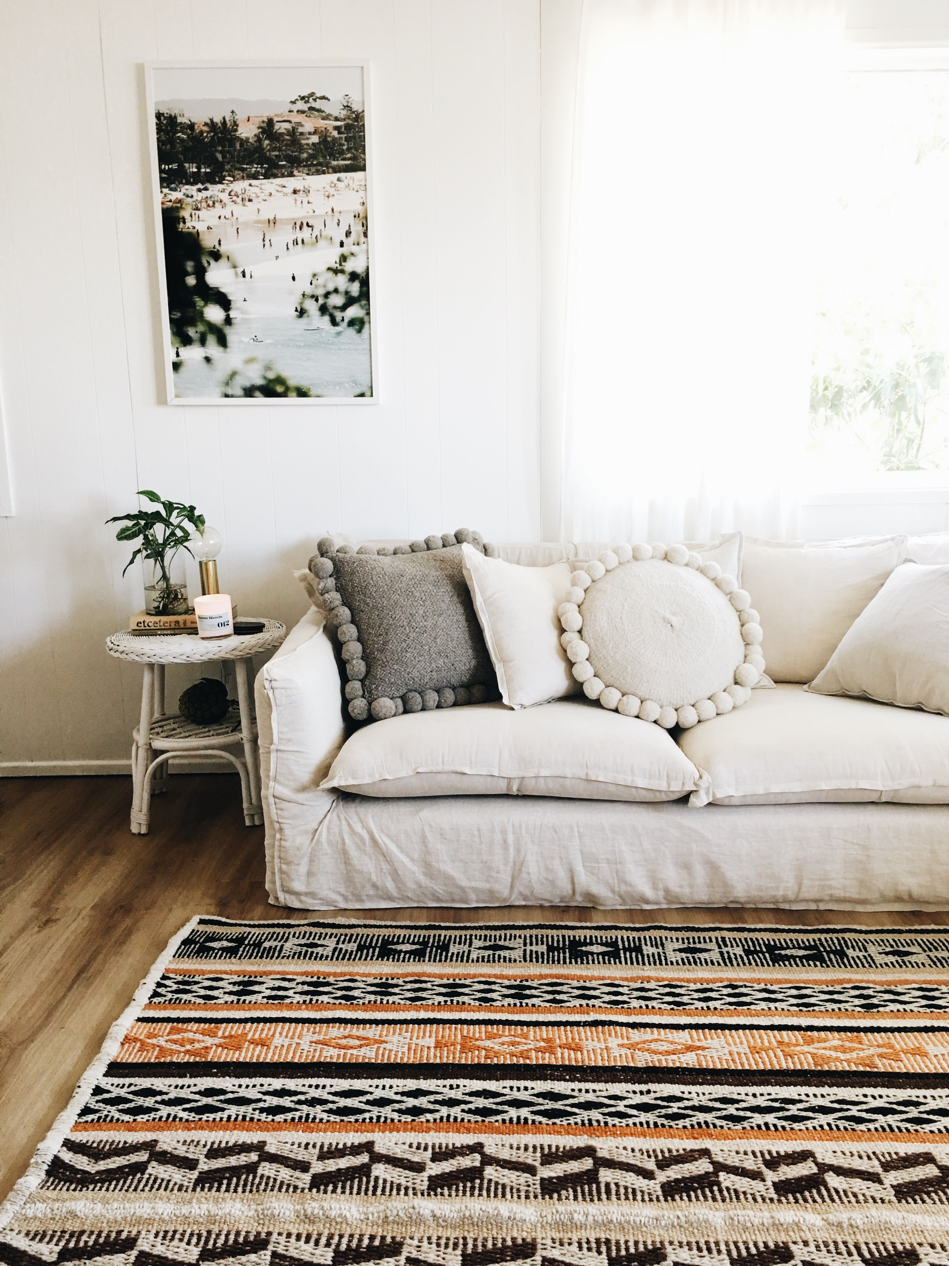 Pampa Rug And Cushions Deep Couch