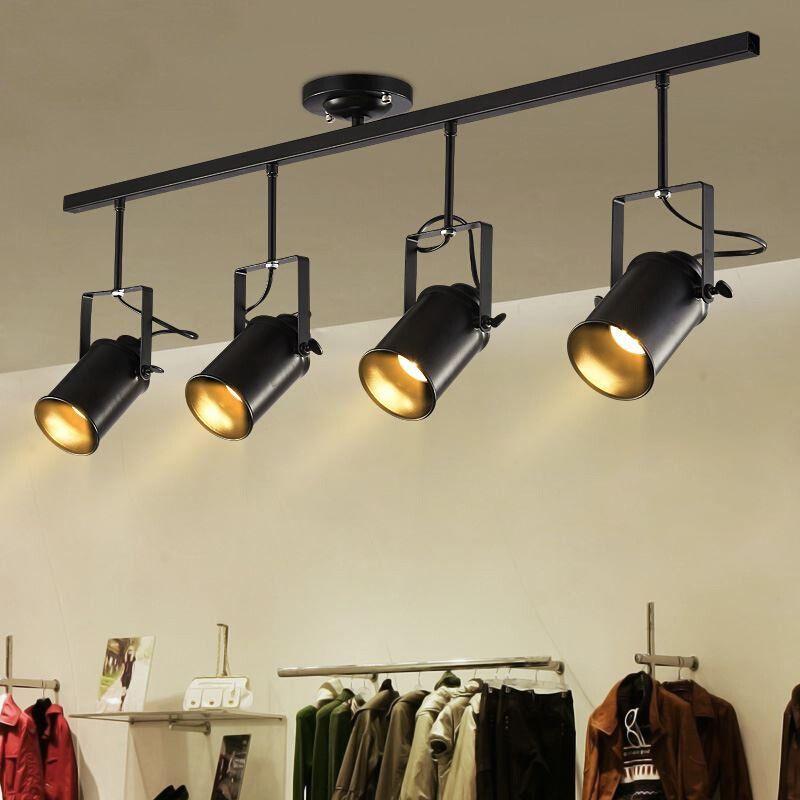 85 99 Loft Metal Track Lamp Retro Fixtures Ceiling Stage