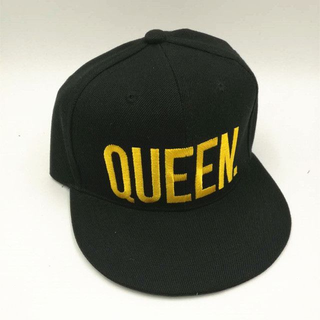 0b042f80155 fashion KING QUEEN embroidered letter youth Lover Men women Baseball cap  black hip hop cap snapback