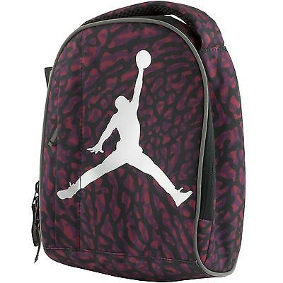 fda79f79e5f Nike Jordan Soft School Insulated Lunch Tote Bag Box Kids Adults Black Red