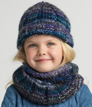 Ribbed Beanie and Cowl …   Beanie knitting patterns free ...