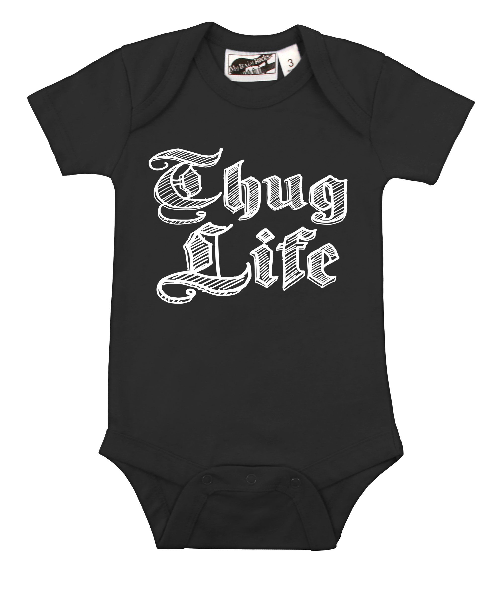 Thug Life Black e Piece punk funny urban hip hop and