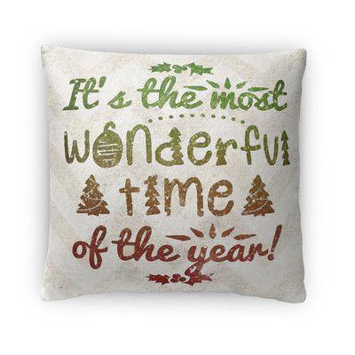 Kavka Tis The Season Fleece Throw Pillow