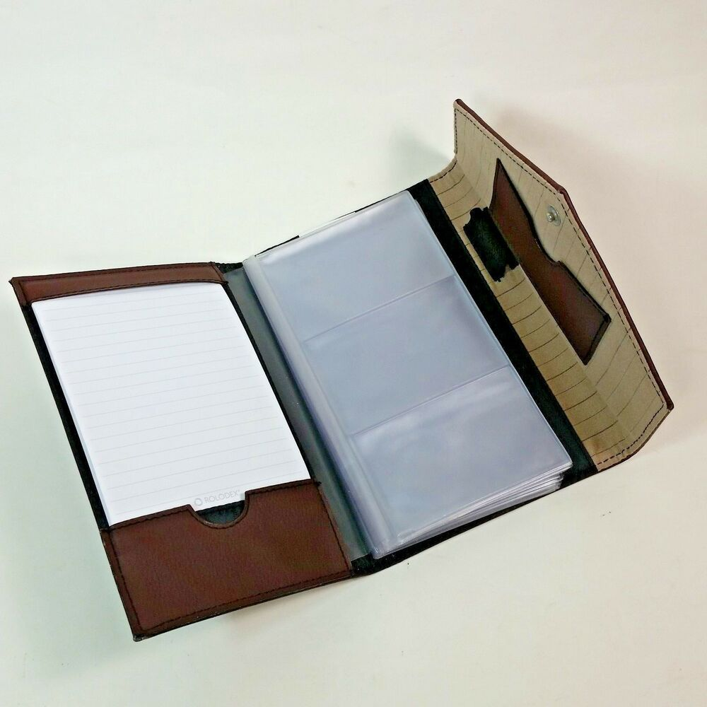 Rolodex Padfolio Brown Business Card Holder Office Business Accessory Organizer Ebay Brown Business Card Business Card Holders Rolodex