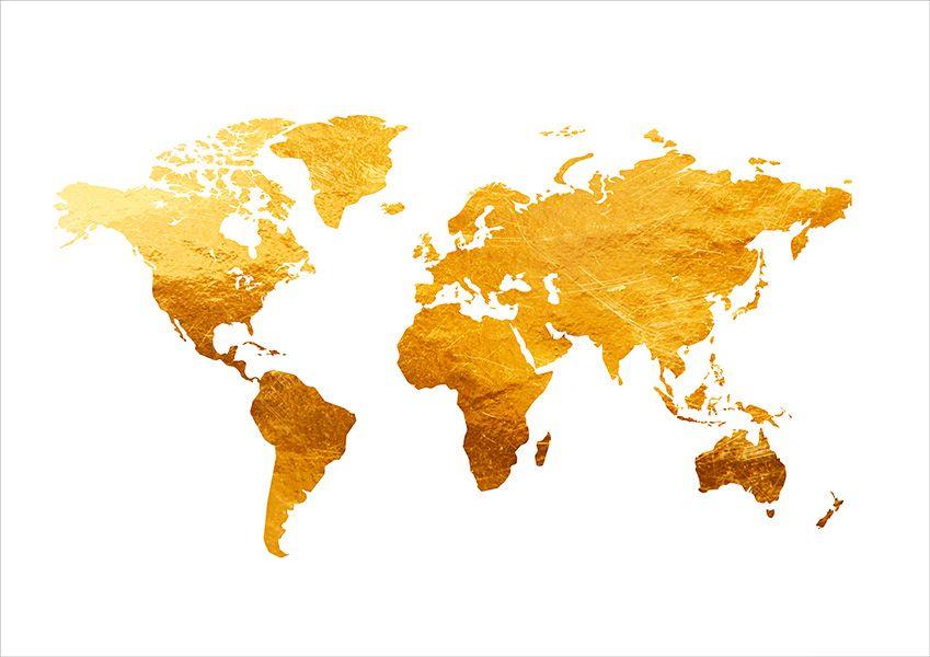 Poster mapa mundi golden viagem pinterest wallpaper mandala ushopping gold world map canvas prints artwork x gumiabroncs Choice Image
