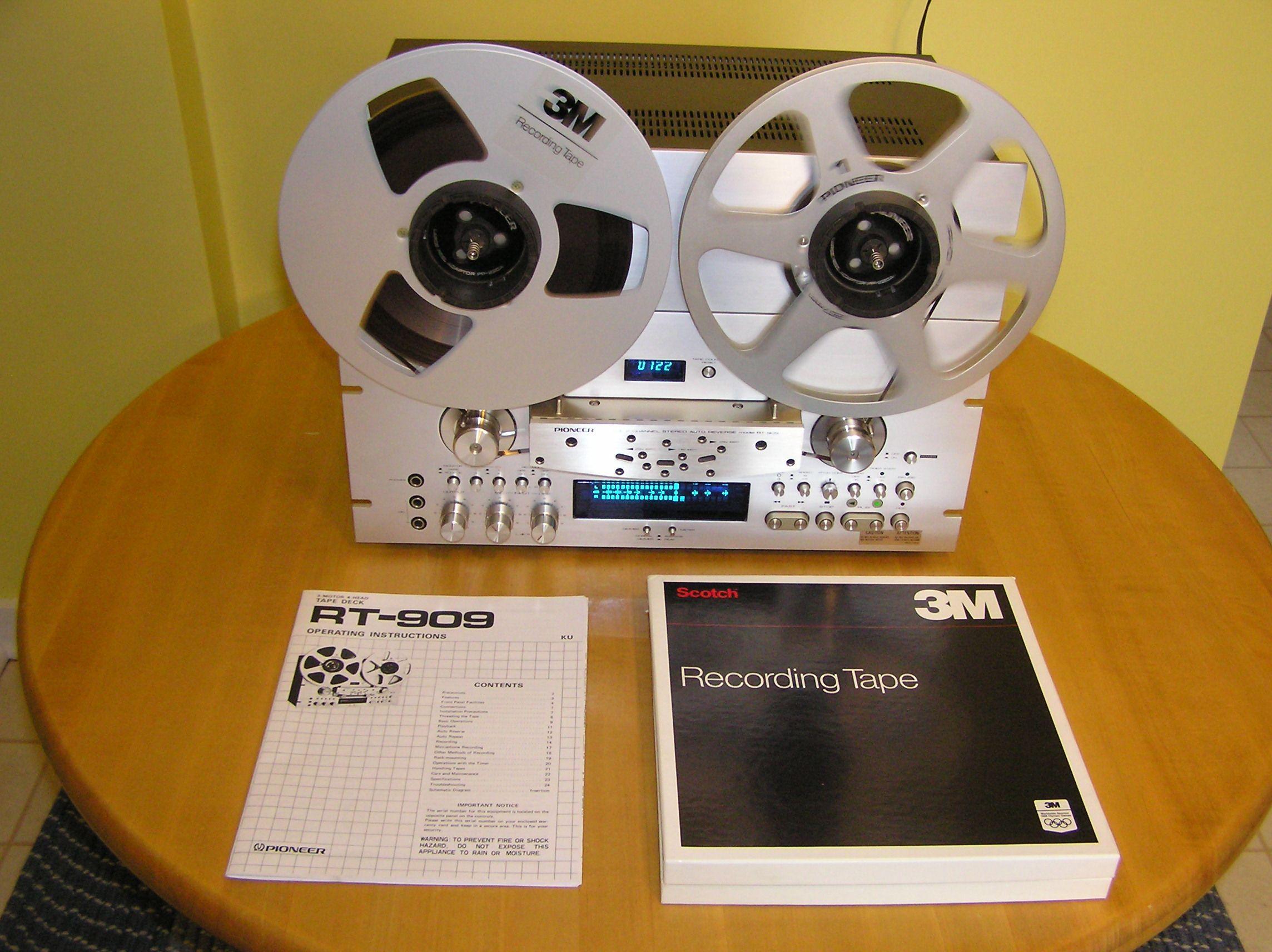 Pioneer RT909 ReelToReel Tape recorder, Tape deck, Audio