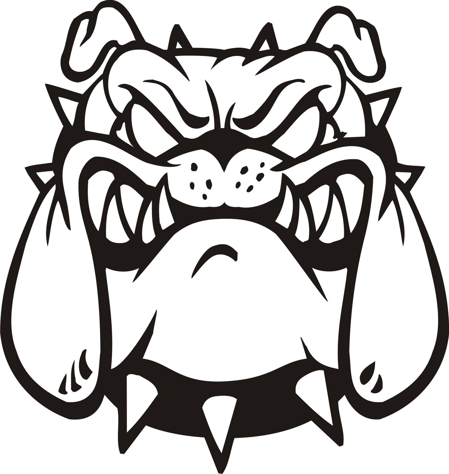 hight resolution of bulldog vector art free download clip on clipart