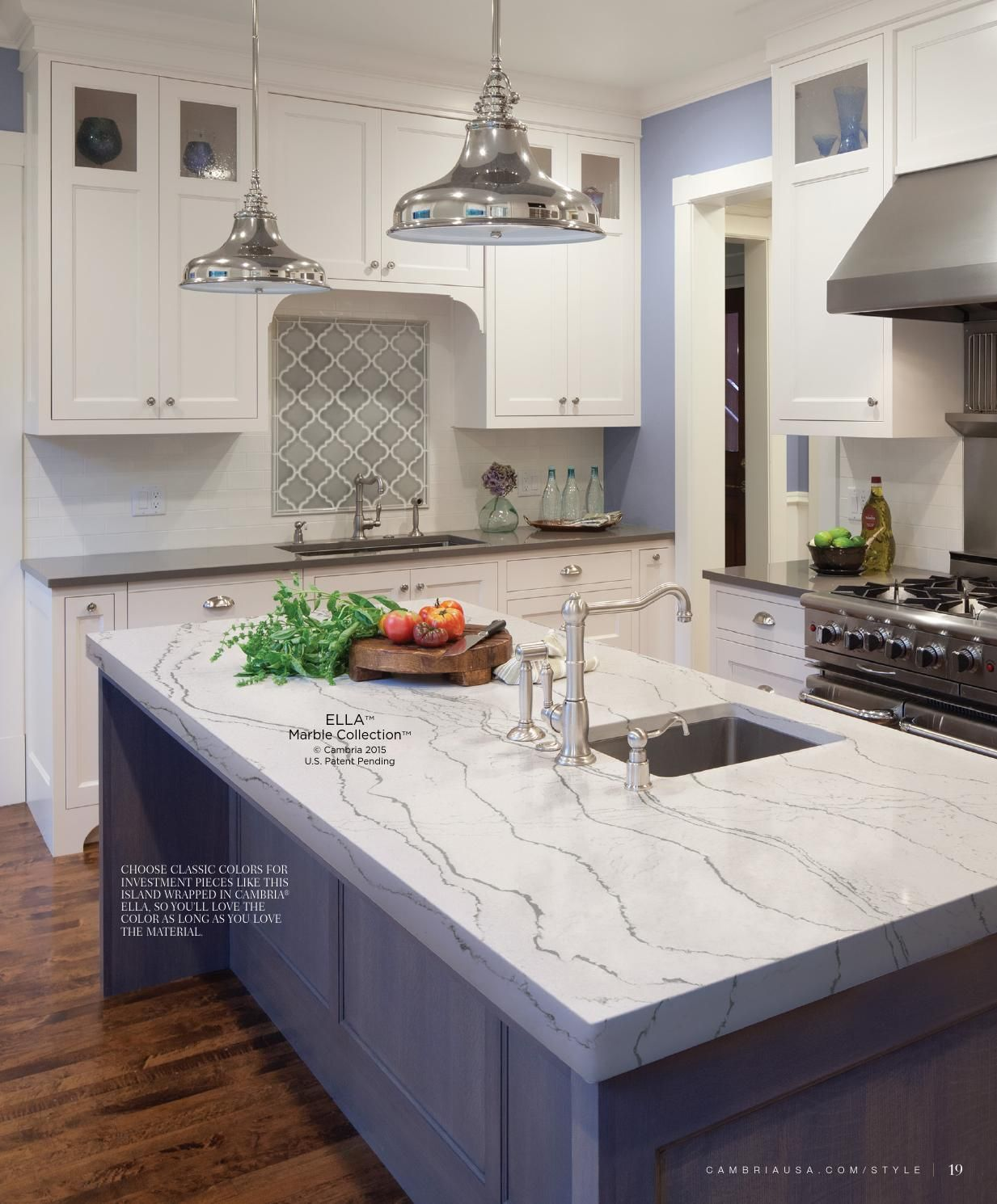 cambria kitchen countertops Cambria Style - Summer 2015 in 2019 | Kitchens and Dining Rooms | Cambria quartz, Kitchen