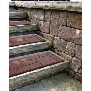 Best Envirotile Cobblestone 10 In X 24 In Terra Cotta Stair 400 x 300