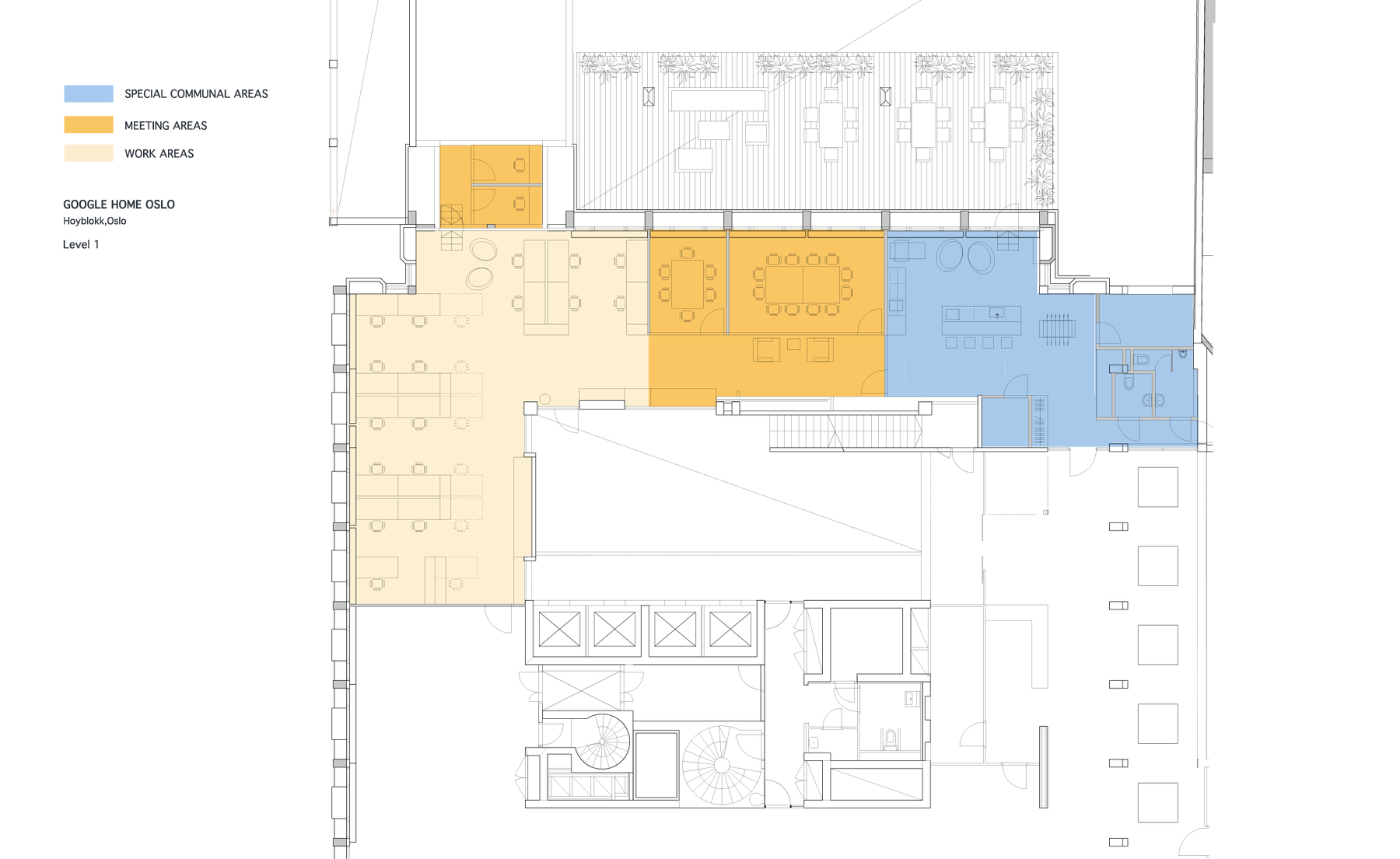 Google Headquarters Floor Plan | Floor plan. Level 1 ...