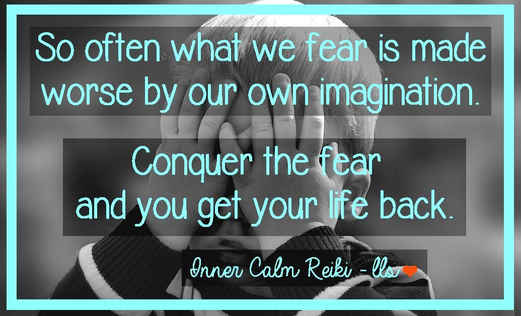 Fear can be crippling. It can prevent us from leading fulfilling and joyful lives. Sometimes we fear failure, but often we fear how our lives will change if we actually succeed. Blessings - Leslie <3