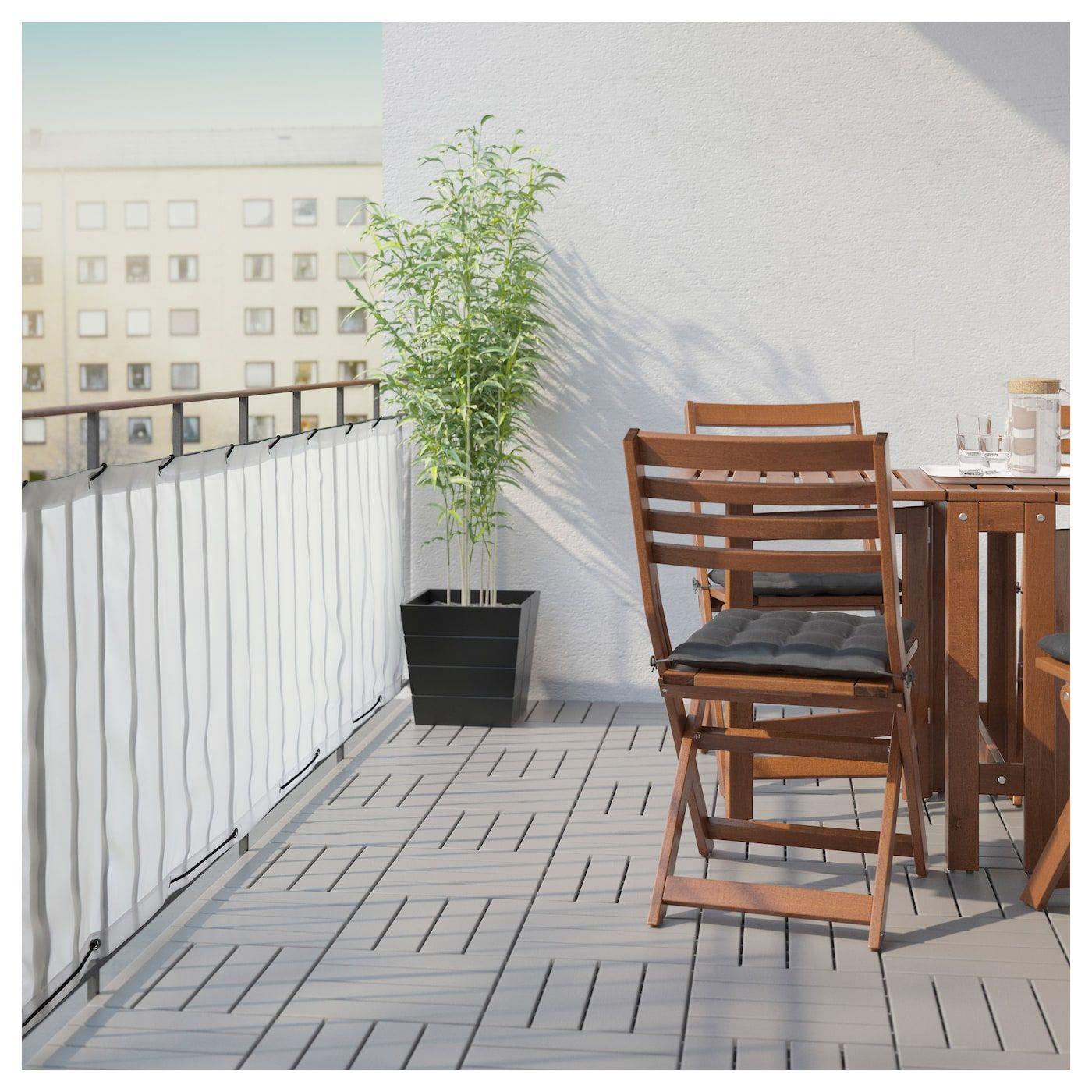 Dyning Brise Vue Pour Balcon Blanc 98 3 8x31 1 2 250x80 Cm