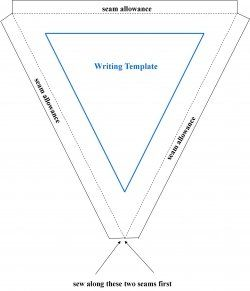 Bunting Template: copy and paste into your publishing