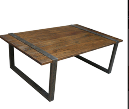 wood table with metal | ... Sofas Chairs Accent Tables - San Mateo ...