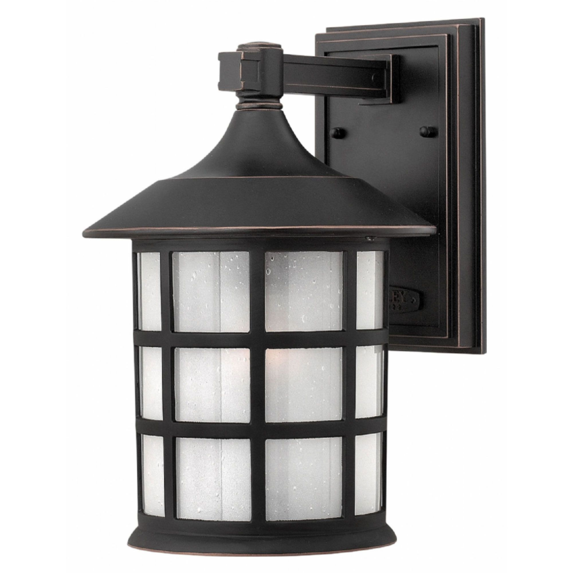 The Freeport Outdoor Wall Sconce features a classic New England design. This timeless, traditional style will complement a variety of exteriors. Available with a Black or Oil Rubbed Bronze finish with Clear Seedy Glass or an Olde Penny finish with Etched Seedy Glass. Available in three sizes and with incandescent or LED lamping.  Incandescent: 75/100 watt 120 volt A19 medium base bulbs are required, but not included. LED: 10/15 watt 120 volt LED module is included. Intelligent driver allows…