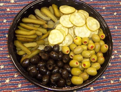 Relish Tray~ This one is a little large, but you get the ...