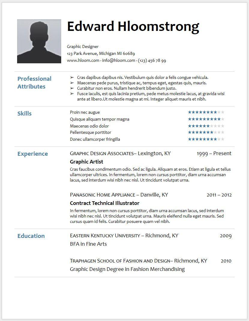 Resume Template Google Docs 2017