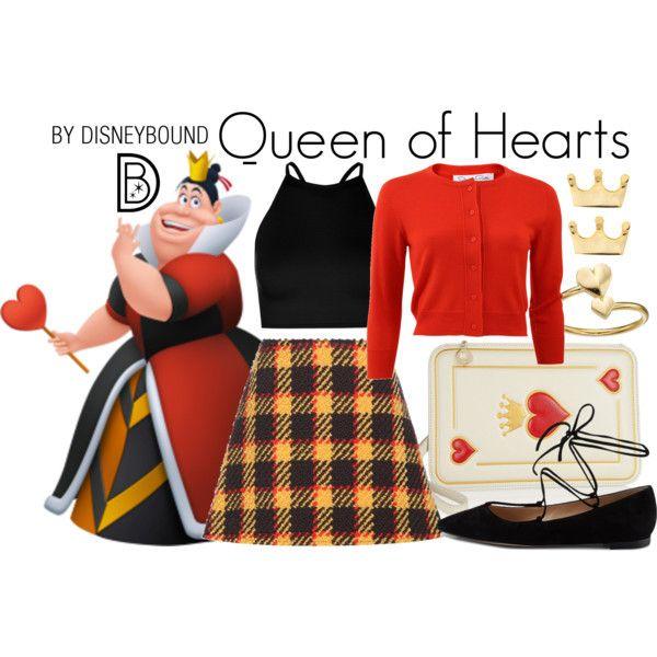 Disney Bound Queen Of Hearts Roupas Inspiradas Roupas De