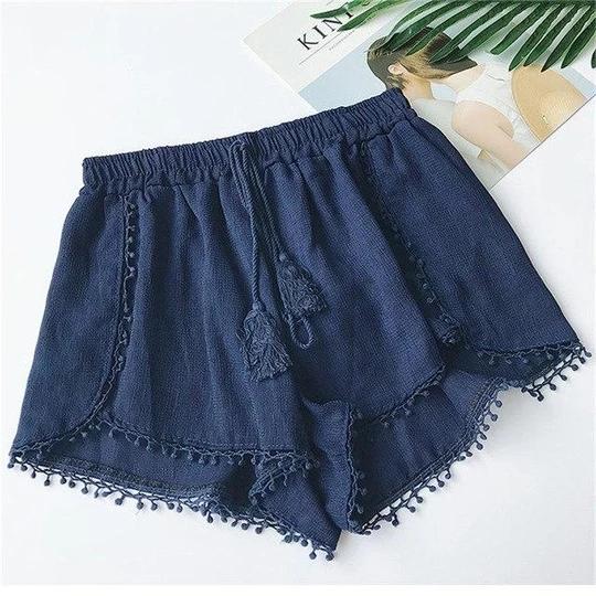 Summer Newest Style Fashion Vintage Elastic High Waist Female Boho Beach Chiffon Shorts Women Casual Shorts girls Short Trousers #chiffonshorts