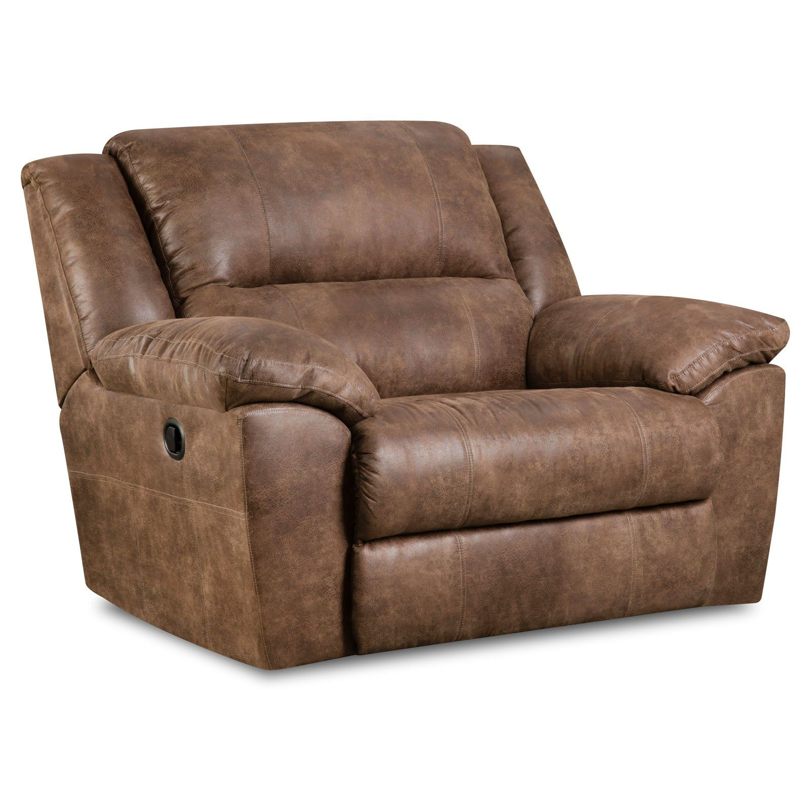 Simmons Upholstery Phoenix Cuddler Recliner Mocha Man Chair