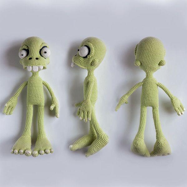 Zombie boy in singlet amigurumi pattern by Ds_mouse | Kuscheltiere ...