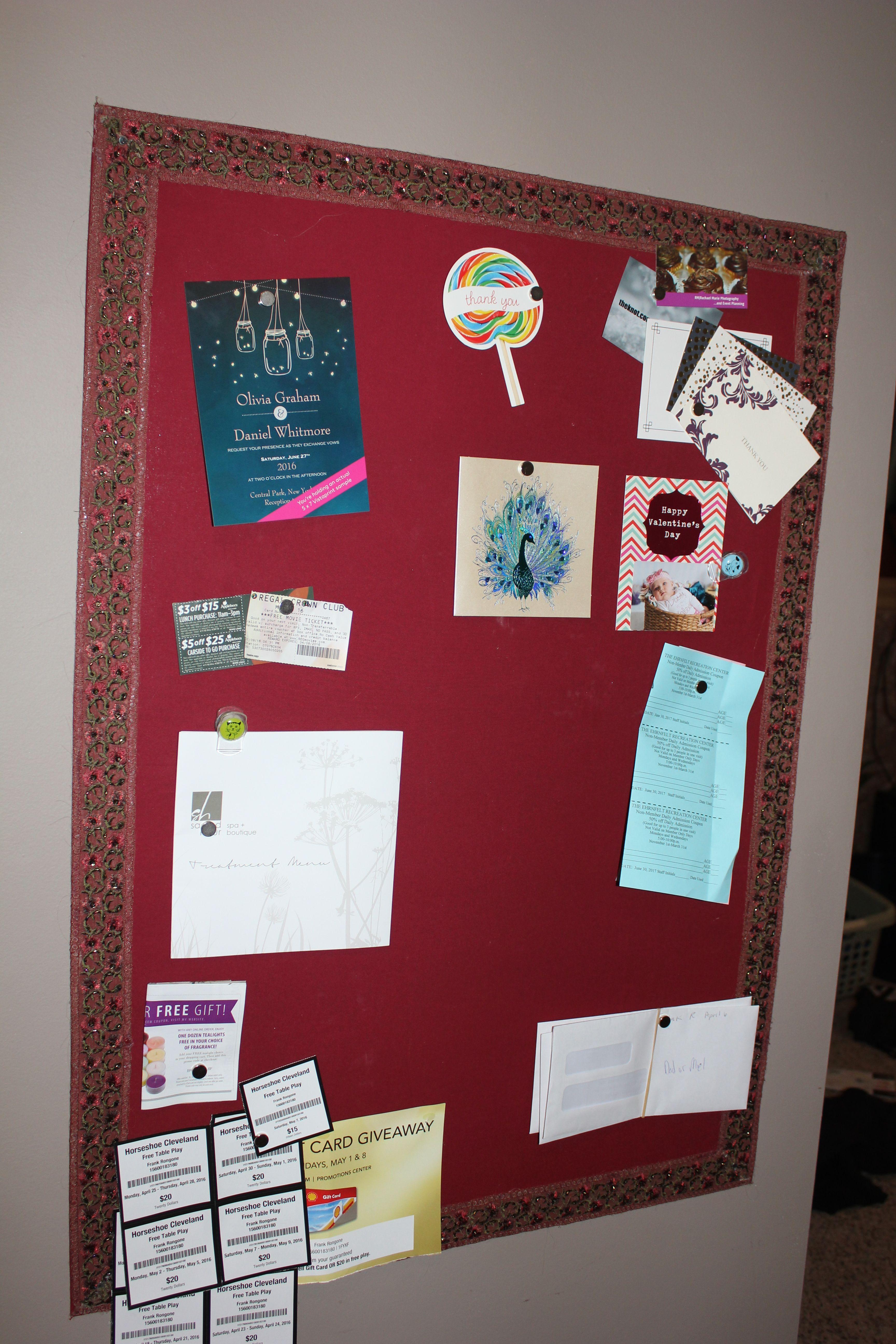 DIY Magnetic Memo Board!   Diy magnetic board, Board and Cards