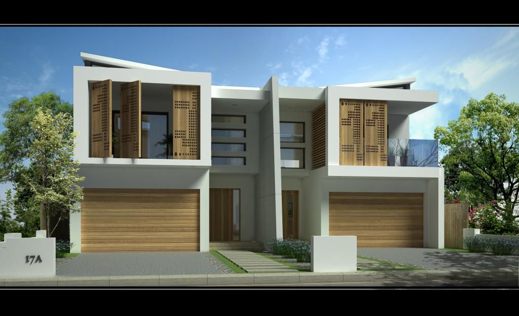 Sandringham new duplex jr home designs australia for Duplex plans australia