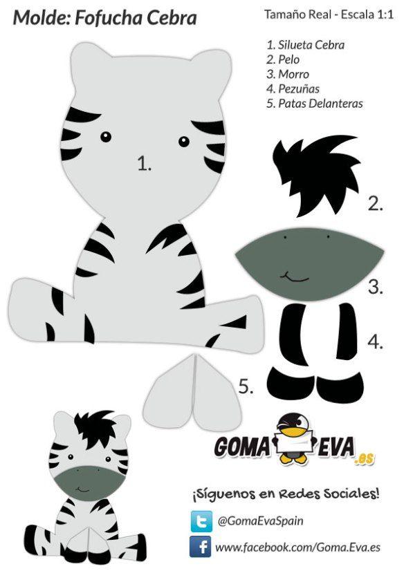 Molde-Fofucha-Cebra Más | Детские по…