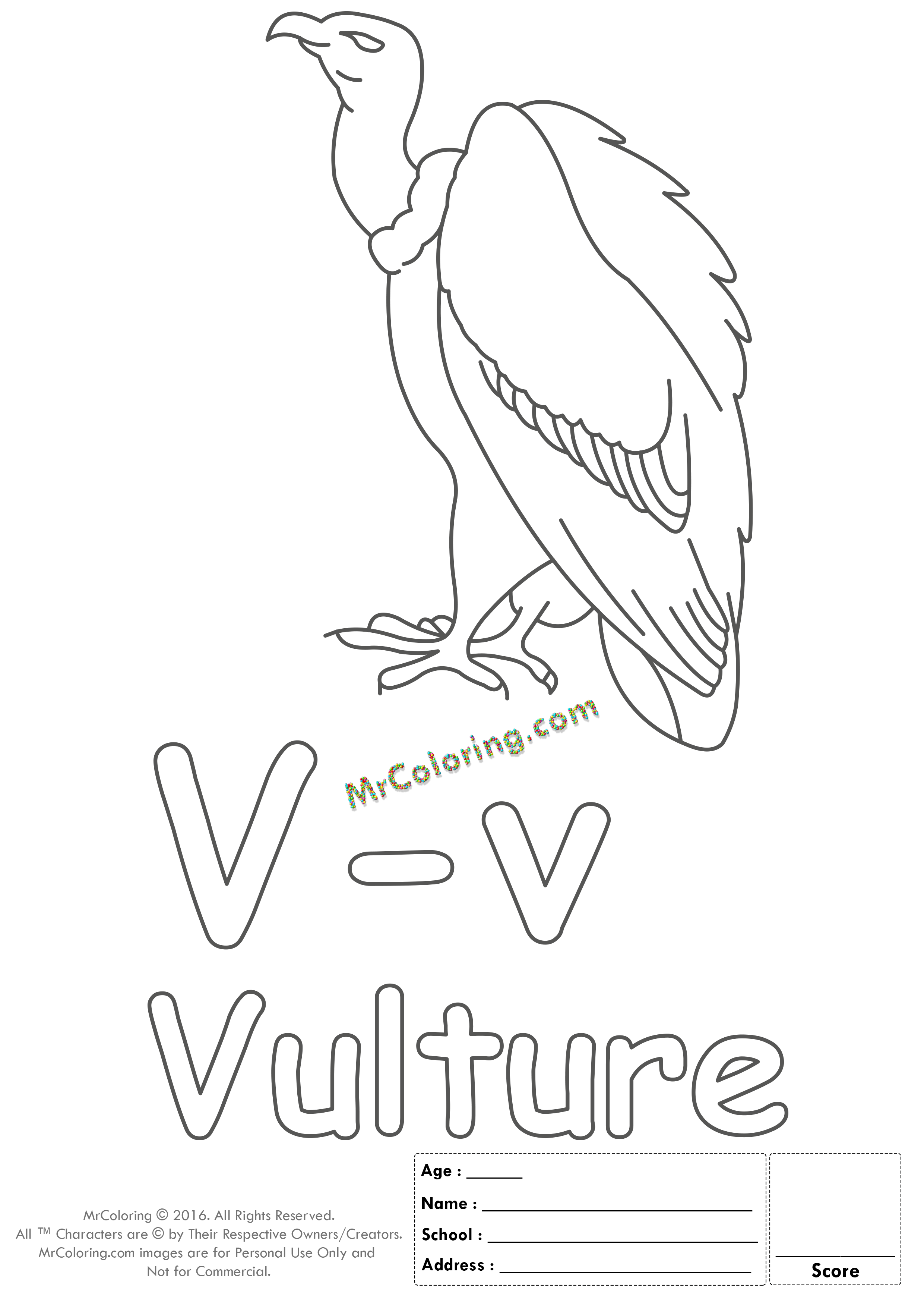 Alphabet Letter Vv Printable Coloring Pages Coloring