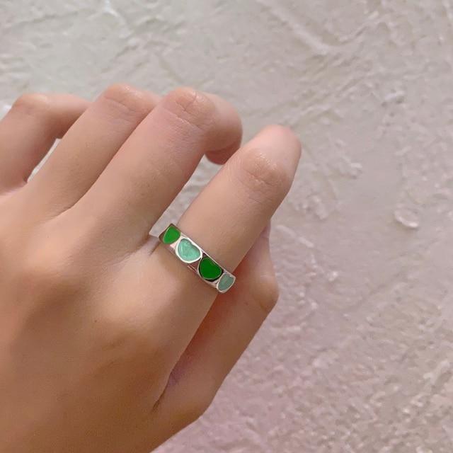 The most aesthetic metal chunky rings 🔥 Metals Type: Zinc AlloyMaterial: MetalShape\pattern: HeartItem Type: Rings