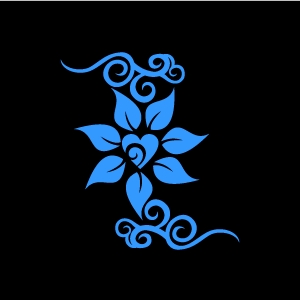 Graphic Design of Flower Clipart - Blue Jasmine with Love ...