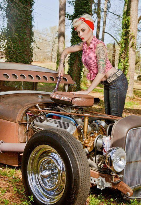 Pin up girls and rat rods | Rat Rod Girls | Pinterest ...