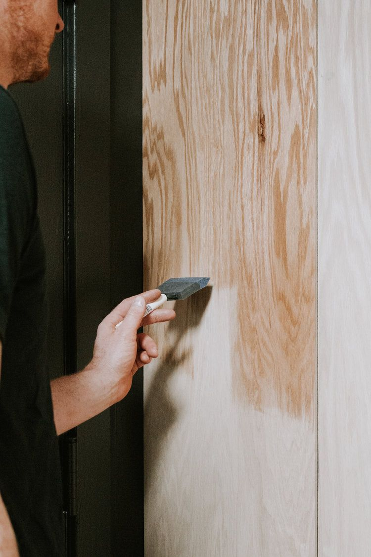 Diy Plywood Accent Wall Nadine Stay Plywood Wall Paneling Plywood Walls Accent Wall