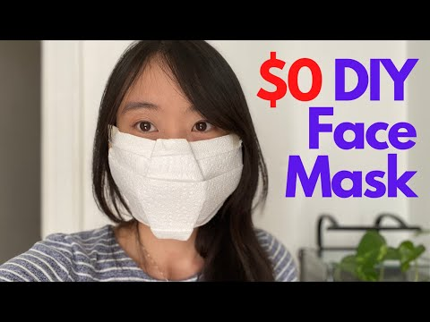 How To Make A No Sew Diy Face Mask 0 Quick Easy Tutorial
