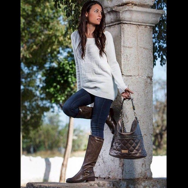 💎XTI WITH FASHION BLOGGERS💎 @ylasbailarinasenelbolso en nuestro nuevo catálogo Otoño/Invierno 14-15 #moda #streetstyle #fashionblogger