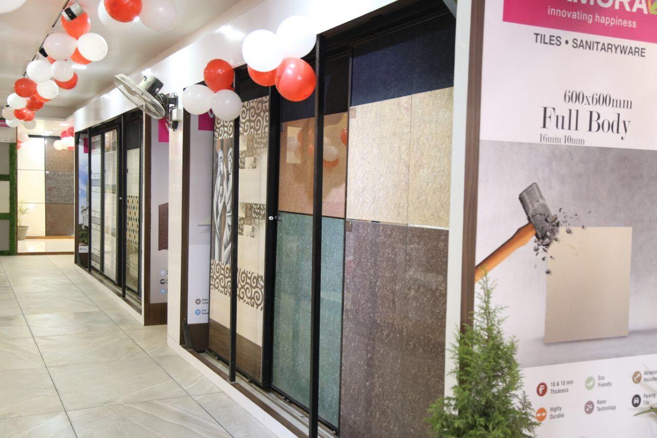 Varmora Boosts Its Pan India Presence With The Inauguration Of Its 109th Exclusive Tiles Showroom Raju Paints Sanitary Tile Showroom Showroom Display Tiles