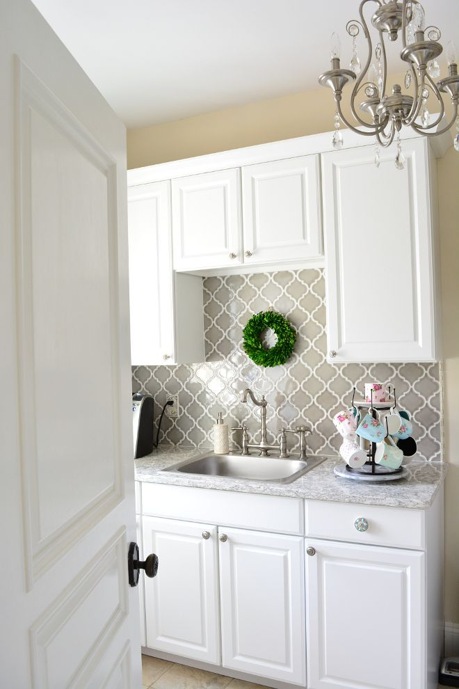 Best Grey Arabesque Backsplash Tile In Laundry Room Arabesque 400 x 300