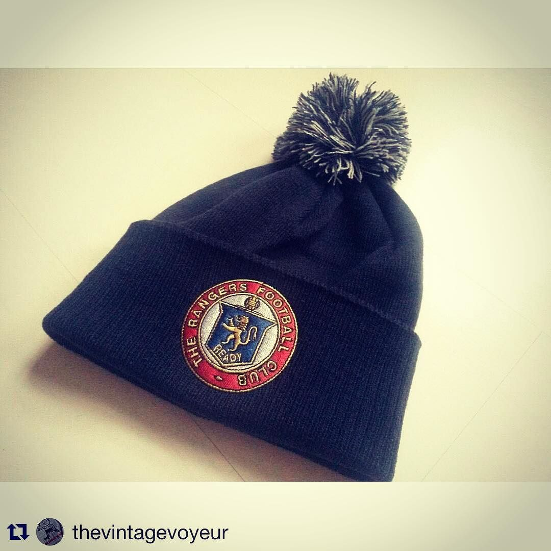 88e84e81f263c4 Love this Rangers bobble hat from @thevintagevoyeur - enter FSC at checkout  to get 10% discount. Great Christmas gift #xmas #spl #scottishfootball # football ...