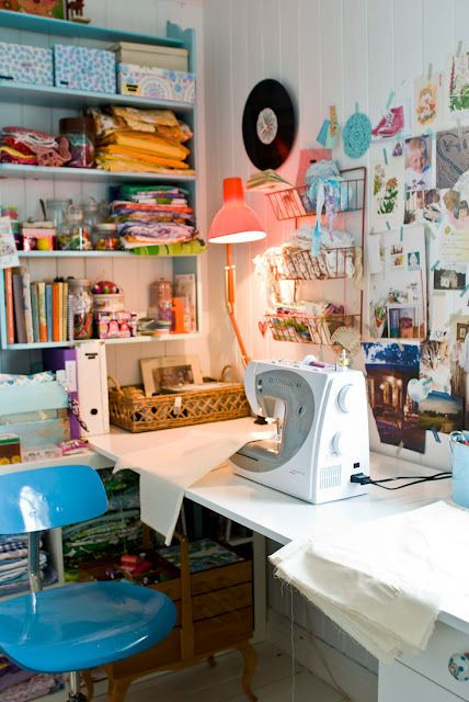 Craft Room Inspiration   Delightful Little Sewing Room from Brothers Borg   Fjledborg